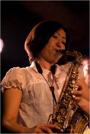 Ono Ryoko, saxophonist in Nagoya, Japan