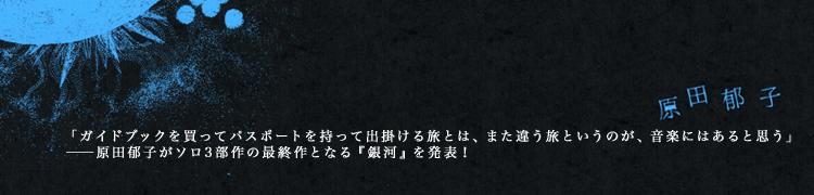 「ガイドブックを買ってパスポートを持って出掛ける旅とは、また違う旅というのが、音楽にはあると思う」──原田郁子がソロ3部作の最終作となる『銀河』を発表!