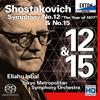 ショスタコーヴィチ:交響曲第12番「1917年」 / 交響曲15番 インバル / 東京都so.