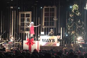 MAY'S、クリスマス・ライヴで新曲「君に届け...」初披露!