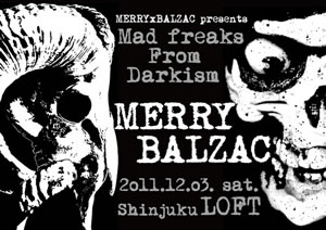 MERRY×BALZAC、2マン・ライヴが新宿LOFTにて開催!