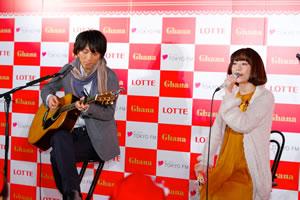 バレンタイン教室に長澤まさみと武井 咲が登場! moumoonもCMソングを披露