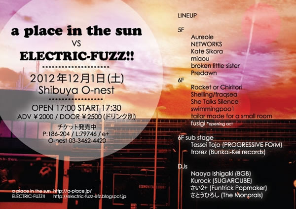 a place in the sun VS. ELECTRIC FUZZ!!