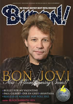 『BURRN!』最新号はボン・ジョヴィが表紙巻頭に登場!