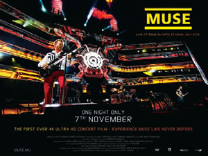 MUSE、6万人を沸かせたライヴが劇場公開決定