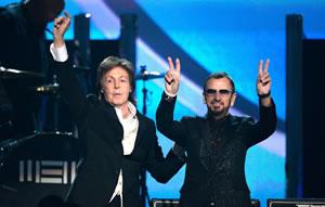 ポール・マッカートニーとリンゴ・スターがグラミー賞で共演
