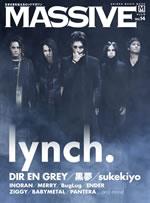 lynch.&DIR EN GREY武道館公演を特集した『MASSIVE』最新号発売