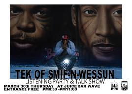 TEK(SMIF-N-WESSUN)、来日公演前日に新作リスニング・パーティを開催