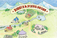 ナポリタンみみこ / ボルゾイがデュオ展〈bobble and pinkohouse〉を新宿眼科画廊にて開催