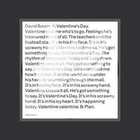 デヴィッド・ボウイ、新作収録曲「ヴァレンタイン・デイ」のミュージック・ビデオを公開