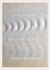 THE NOVEMBERS、特別編成での教会ライヴ〈HOLY〉を開催
