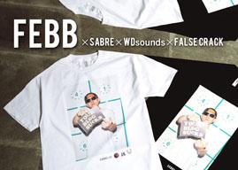 FEBB AS YOUNG MASONのオフィシャルフォトTシャツが発売に