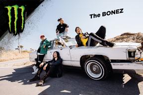 The BONEZがモンスターエナジーとスポンサーシップを締結 スペシャル・ライヴを開催