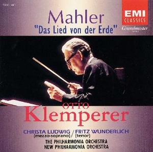 マーラー:「大地の歌」 クレンペラー / PO ルートヴィッヒ(MS) ヴンダーリッヒ(T) [再発