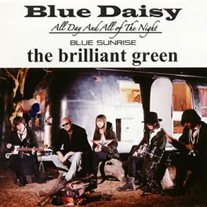 the brilliant green / Blue Daisy