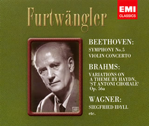 ベートーヴェン:交響曲第5番 / ヴァイオリン協奏曲 / ブラームス:ハイドンの主題による変奏曲 / ワーグナー:ジークフリート牧歌 / ブリュンヒルデの自己犠牲 フルトヴェングラー / VPO、BPO 他 [限定][出荷終了]