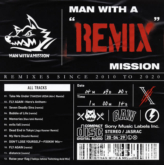 "MAN WITH A MISSION / MAN WITH A""REMIX""MISSION"