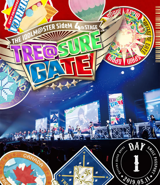 THE IDOLM@STER SideM 4th STAGE〜TRE@SURE GATE〜SMILE PASSPORT DAY1〈2枚組〉 [Blu-ray]