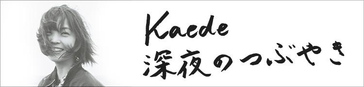 Kaede 深夜のつぶやき つぶやき2 台湾のはなし